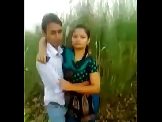 Couple Exotic Friends Girlfriend Indian Kiss Outdoor