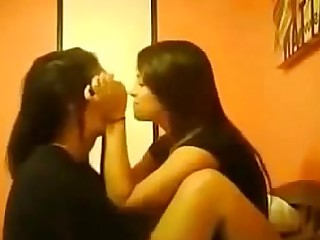 College Indian Kiss Lesbian